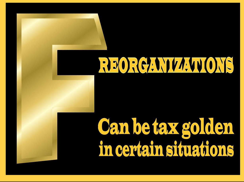 f-reorganizations