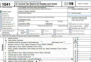 Philadelphia Tax Attorney Prepares Form 1041